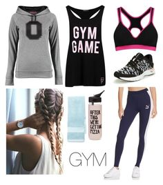 """""""GYM"""" by kwkalyn on Polyvore featuring Boohoo, ban.do, Puma, New Balance and Biltmore"""