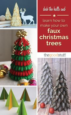 Deck the Halls and Learn How to Make Your Own Faux Christmas Trees | thegoodstuff
