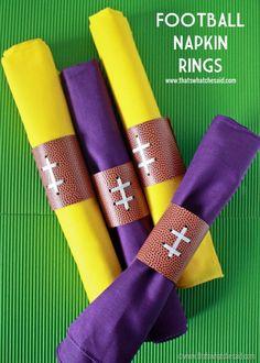 Football Napkin Ring