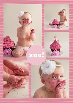 1st birthday smash cake! H will look like this, I bet. :)
