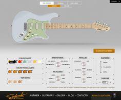 Salcedo GuitarWorks - Diseño Web // Trabajo realizado para la agencia Bonus Creativo // freelance.