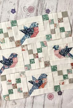 Quilt Square Patterns, Patchwork Quilt Patterns, Pattern Blocks, Square Quilt, Patchwork Designs, Quilt Patterns Free, Small Quilts, Easy Quilts, Blue Quilts
