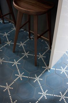 HEX DOT handmade cement tiles.