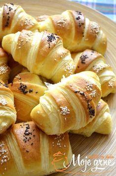 """Buckave"" kiflice – Elisabeth W. Healthy Bread Recipes, Baking Recipes, Dessert Recipes, Kiflice Recipe, Croation Recipes, Bosnian Recipes, Albanian Recipes, Macedonian Food, Best Food Ever"