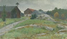 Prince Eugen Napoleon Nicolaus (1865-1947): Regnväder, Balingsta 1891. Olja på duk
