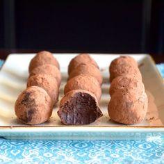 Dark Chocolate Avocado Truffles HealthyAperture.com