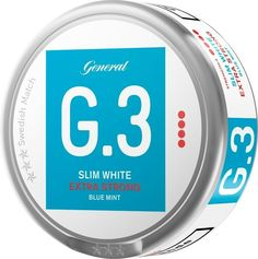 Snus Slim Blue Mint Extra Strong White cans as Sweden, Mint, Strong, Slim, Canning, Ebay, Products, Home Canning, Gadget