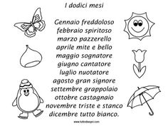 #Italian ~ rhyme-12-months