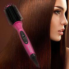 Free Shipping  Brush Hair Straightener Comb Irons Electric Hair Straightener Brush  Anti Scald Comb Auto Massager
