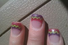 My February 2014 nails. Done at Profiles in Fort Myers, FL