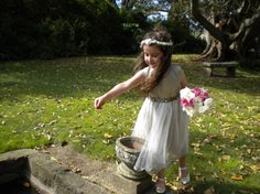 The innocence of a little flowergirl...
