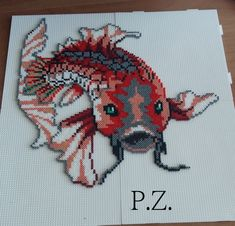 Fish hama mini beads by piazobel