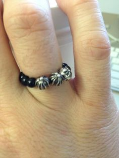 #chromehearts bead ring