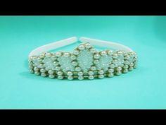 Faça você mesma: tiara coroa de pérolas - YouTube