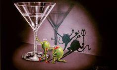 Michael Godard Godard Art, Angel And Devil, Wine Art, Unusual Art, Art Forms, Artsy Fartsy, Cool Art, Art Drawings, Art Photography