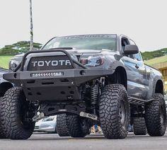 Toyota Tacoma equipped with a Fabtech System Toyota Tacoma Bumper, Toyota 4x4, Toyota Trucks, Lifted Ford Trucks, Toyota Hilux, Jeep Truck, Pickup Trucks, Toyota Garage, Toyota Surf