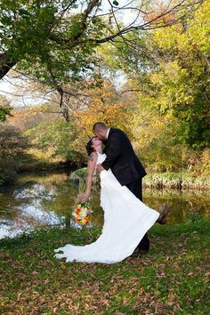 Jess and Mike Creekside Ceremony Tohickon Family Campground