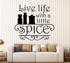 Bon Vinyl Wall Decal Kitchen Quote Spice Chef Restaurant Cook Stickers Unique  Gift (ig4534)