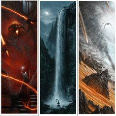 sci fi fantasy - Hand-Drawn Lord of the Rings Posters