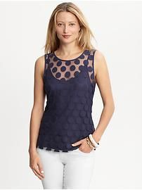 banana republic....one of favorite tops I own!