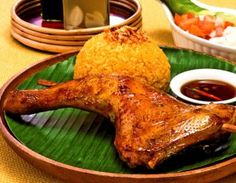 """""""Chicken Inasal - filipino food is honestly the best - best eaten with garlic rice - good choice for filipino food newbies"""" Filipino Dishes, Filipino Recipes, Asian Recipes, Ethnic Recipes, Filipino Food, Filipino Desserts, Asian Foods, Easy Recipes, Chicken Inasal Recipe"""