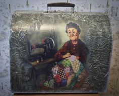 "Декупаж - Сайт любителей декупажа - DCPG.RU | Кофр ""Бабушка"" и другие рельефы Click on photo to see more! Нажмите на фото чтобы увидеть больше! decoupage art craft handmade home decor DIY do it yourself varnish paints"