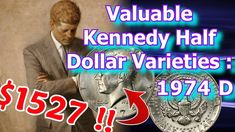 Rare 1974 Kennedy Half Dollar Varieties - Half Dollar Coins Worth Good M. Rare Coins Worth Money, Valuable Coins, Antique Coins, Old Coins, Amazing Life Hacks, Coin Worth, Kennedy Half Dollar, Error Coins, Coin Values