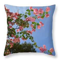 Pink Bougainvillea Throw Pillow for Sale by Aimee L Maher Photography and Art Visit ALMGallerydotcom #homedecor #livingroom #flower