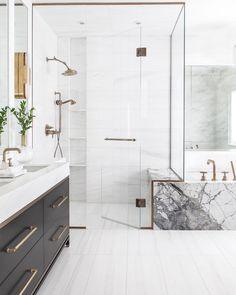 Elegant and luxury bathroom design ideas for a unique home decor. Elegant and luxury bathroom design ideas for a unique home decor. Bathroom Tile Designs, Bathroom Renos, Modern Bathroom Design, Bathroom Interior Design, Bathroom Renovations, Decor Interior Design, Small Bathroom, Bathroom Ideas, Bathroom Black