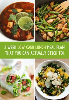 We have collected 14 amazing low carb lunches that you can add into your diet to help you lose weight and feel better. Low carb recipes that focus more on protein vegetables and big flavours to create delicious meals that you will really love! Healthy Food Recipes, Lunch Recipes, Low Carb Recipes, Diet Recipes, Healthy Snacks, Healthy Eating, Lunch Meals, Low Carb Meal Plan, Low Carb Lunch