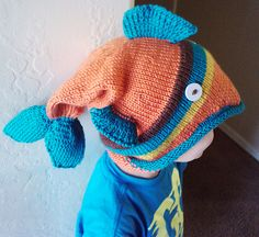 dead fish hat i made for my son.