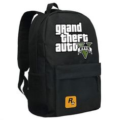 2017 GTA5 / GTA PC Games Mochilas School Kids Backpack For Teenagers Bags Anime Bag Mochila Surrounding Infantil Japan Animation