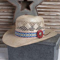 Charlie 1 Horse Blue Heart Breaker Straw Hat. Womens Western HatsCowboy ... 244b36b3cebf