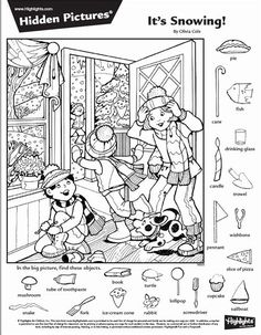 Hidden Picture Games, Hidden Picture Puzzles, Hidden Object Puzzles, Hidden Objects, Find Objects, Puzzles For Kids, Craft Activities For Kids, Colouring Pages, Coloring Books
