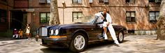 Jay-Z, photographed outside the Marcy Projects with a Bentley Azure in Brooklyn,1998.