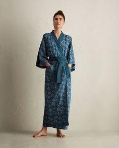 Women's Spot Floral Kimono Gown