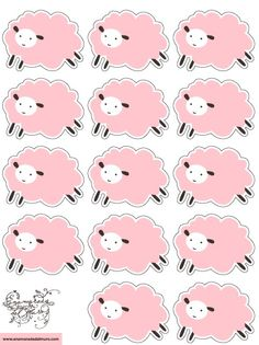 ovejas rosas