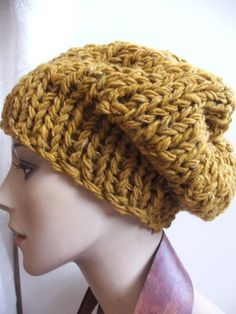 Mustard yellow pure wool chunky hat 1 2 left in this by ileaiye, Knit Crochet, Crochet Hats, Knit Art, Mustard Yellow, Knitted Hats, Winter Hats, Women Wear, Style Inspiration, Pure Products