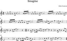 Imagine. Partitura de la canción de John Lennon