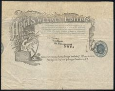 Cape of Good Hope Cost Of Production, Spa Weekend, Type I, Chapter 3, Cape, Two By Two, African, Stamp, Lettering