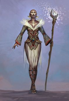 f Cleric or Wizard w staff Defiant Bahmi from Rift