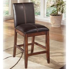"Signature Design by Ashley Larchmont 24"" Uph Bar Stool - Marlo Furniture - Bar Stool"