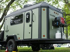 The new ADAK Adventure Trailer features a cassette blackwater system was installed in the trailer to make for easy and mess free dumping. Cargo Trailer Camper, Diy Camper Trailer Designs, Off Road Trailer, Utility Trailer, Cargo Trailers, Truck Camper, Diy Camp Trailer, Travel Trailers, Expedition Trailer