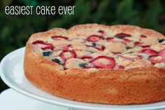 Easiest Cake Ever with Strawberries & Blueberries by Food Librarian, via Flickr