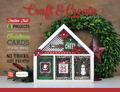 Papered Cottage by Shellye McDaniel: Craft & Create: Holiday 2015 Christmas Minis, 12 Days Of Christmas, Christmas Countdown, Simple Christmas, Christmas Crafts, Christmas Ideas, Book Projects, Craft Projects, Craft Ideas