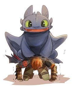 Hahahaha Toothless you're not very heavy are you? XD