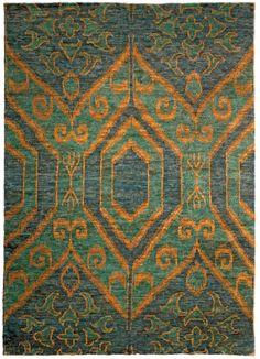 Antique Rug,Antique Carpets,Antique Persian Rugs,Tabriz Rugs,Custom Rugs - Green Ikat N10004