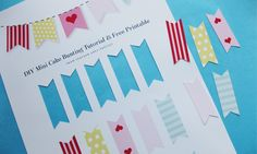 Free Printable Mini Cake Bunting – Stylish Party Supplies, Pretty Tableware & Stylish Decorations