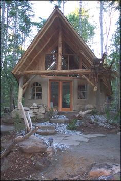 cob house | Cob chalet | home ideas