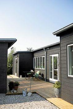 grey, deck, stones! love... deck bunkhouse barn sheds all same color